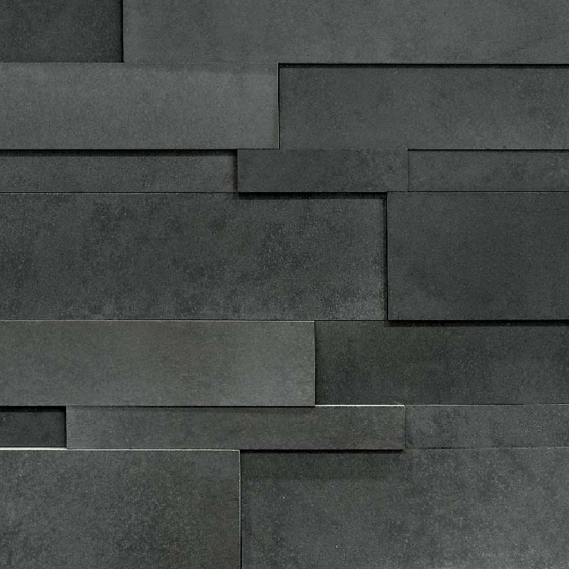 Charcoal Lavastone Large Strips  by ErthCoverings