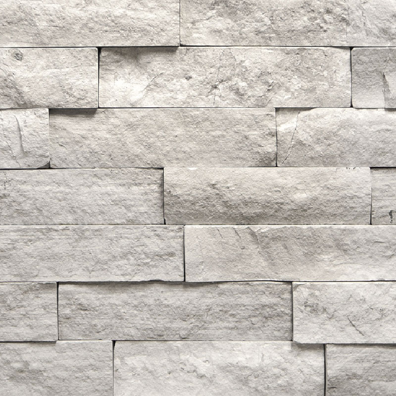 Gray Silver Fox Ledgestone Panels by ErthCoverings