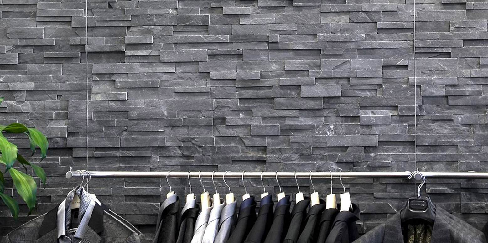 Springwood Black 3D Panels by ErthCoverings