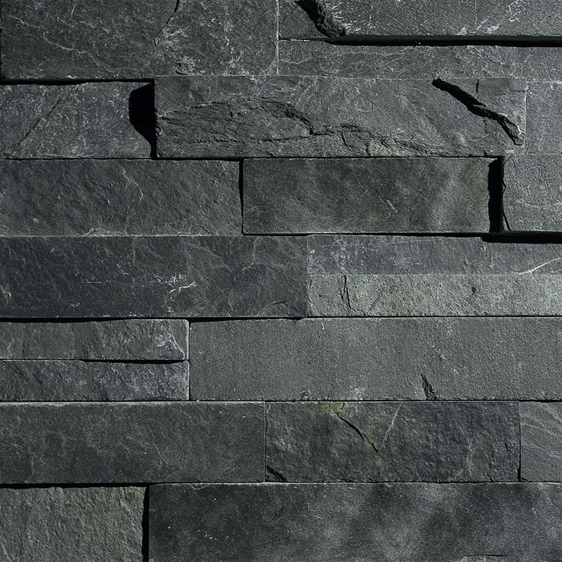 Charcoal Springwood Black 3D Panels by ErthCoverings